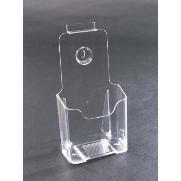 1/3rd A4 Clear Plastic Card Holder For Counter or Slatboard (Box of 50)