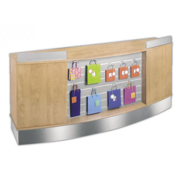 Slatwall Fronted Curved Display Counter