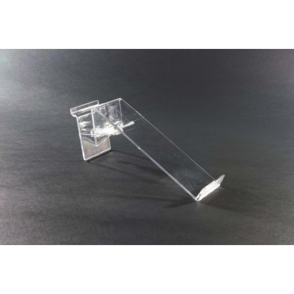 Single Clear Plastic Slatboard Swivel Shoe Shelf with Toe Stop