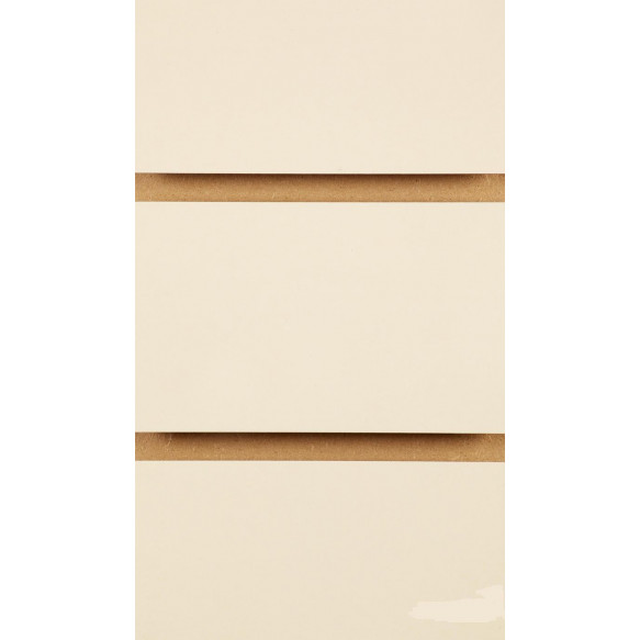 Cream Slatwall Panels with inserts 2400mm x 1200mm - 8 X 4