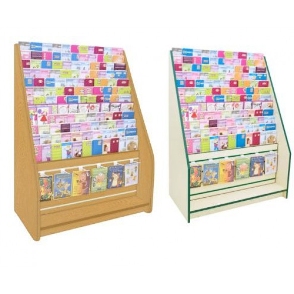 700 Series 12 Tier Card Rack with Slatwall Drawer