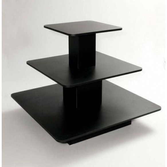 3 Tier Shelf Table Square Display Counter