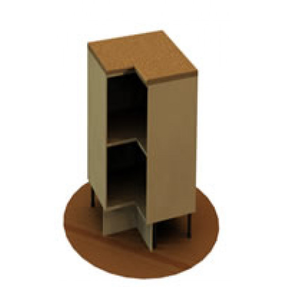 Heavy duty corner unit with mid teir shelf