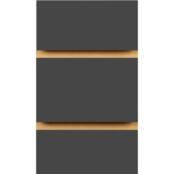 Graphite Grey Slatwall Panels with inserts 2400mm x 1200mm - 8 X 4