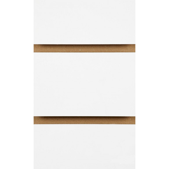 White Slatwall Panels with inserts 2400mm x 1200mm - 8 x 4
