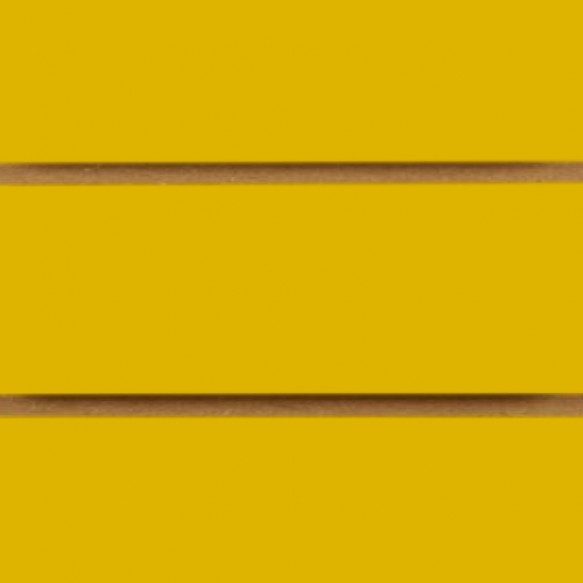 Yellow Slatwall Panels with inserts 1200mm x 1200mm - 4 x 4 (2 Pack)