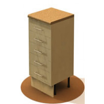 Heavy duty five drawer cabinet