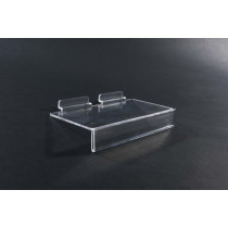 Single Acrylic Slatboard Shoe Shelf with Slot for Ticket Strip