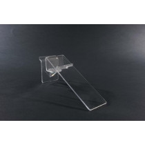 Single Clear Plastic Slatboard Swivel Shoe Shelf with Heel Stop