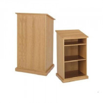 Durable Lectern with Shelves