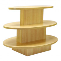 3 Tier Shelf Table Radius Display Counter