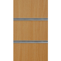 Beech Slatwall Panels with inserts 2400mm x 1200mm - 8 X 4