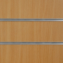 Beech Slatwall Panels with inserts 1200mm x 1200mm - 4 x 4 (2 Pack)