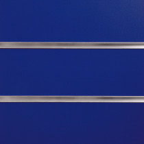 Blue Slatwall Panels with inserts 1200mm x 1200mm - 4 x 4 (2 Pack)