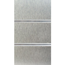 Brushed Steel Slatwall Panels with inserts 2400mm x 1200mm - 8 X 4