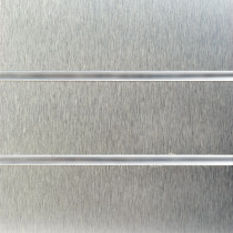 Brushed Steel Slatwall Panels with inserts 1200mm x 1200mm - 4 x 4 (2 Pack)