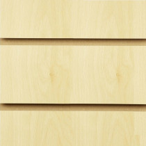 Burnham Beech Slatwall Panels with inserts 1200mm x 1200mm - 4 x 4 (2 Pack)