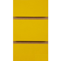 Yellow Slatwall Panels with inserts 2400mm x 1200mm - 8x4